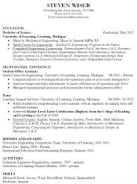 Professional Resume Examples For College Graduates by Recent College Graduate Resume No Experience