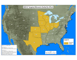 Ohio Time Zone Map by Monarch Butterflies Nrcs