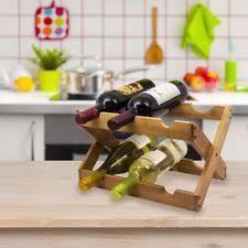 wooden countertop wine racks u0026 bottle holders ebay