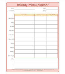 organized home printable menu planner 28 meal plan templates free premium templates