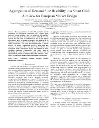 peugeot open europe review aggregation of demand side flexibility in a smart grid a review