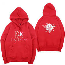 fate extra last encore hoodie for teens latest anime sweatshirt