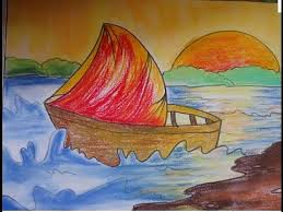 easy drawing for kids beautiful scenery drawing youtube