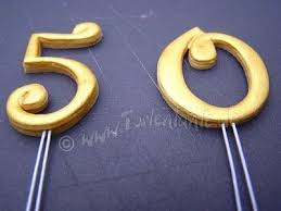 cake topper numbers fondant floral watercolour cake topper