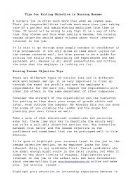 Objective Section On Resume How To Make Objectives In Resume Nursing Resume Objectives