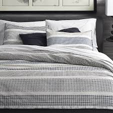 Pinched Duvet Cover Medina Duvet Covers And Pillow Shams Crate And Barrel
