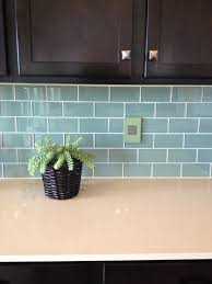 Blue Glass Kitchen Backsplash Charming Blue Glass Tile Backsplash On Kitchen With 10221 For A