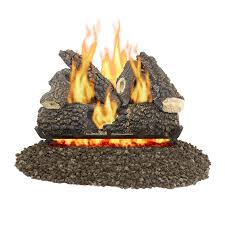 Btu Gas Fireplace - shop pleasant hearth inches btu gas fireplace logs at lowes com