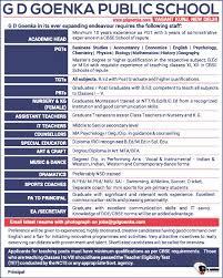 Jobs Economics Degree by Jobs In G D Goenka Public Vacancies In G D Goenka Public