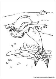 coloring seal swimming fish coloring pages