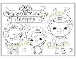 octonauts coloring pages octonauts birthday party coloring page activity pdf file