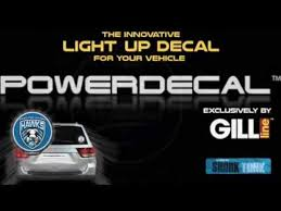 nfl motion activated light up decals the power is here powerdecal youtube