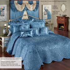Waterfall Bedding Portia Ii Sapphire Quilted Oversized Bedspread Bedding