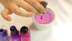 easy water marble nail art step by step beautyheaven