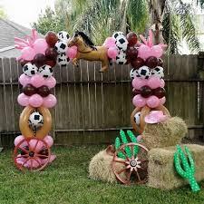 cowgirl theme balloon arc so adorable for a western theme