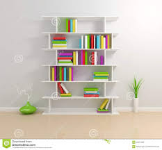 Modern White Bookcase by White Bookshelf With A Colorful Books Stock Photos Image 23277053