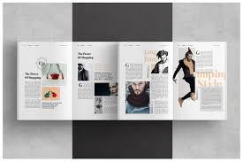 lookbook template brochure folio modern magazine hipster boho
