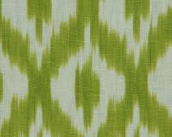 Re Upholstery Supplies Aqua Yellow Geometric Linen Upholstery Fabric By The Yard