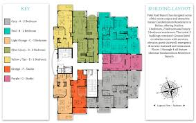 Luxury Penthouse Floor Plan by Our Belize Condos Palm Reef Resort