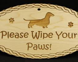 Wipe Your Paws Dog Doormat Wipe Your Feet Etsy