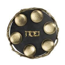 sedar plates black and gold marble seder plate seder plates judaica