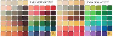 Autumn Color Schemes Warm Autumn Color Palette 737