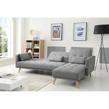 canap angle tissu convertible absolutely smart canape convertible d angle scandinave canap r versible gris clair nordique scandinave 267x151x88cm jpg