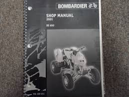 2001 bombardier ds 650 atv shop repair service manual factory