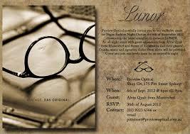 Shop Opening Invitation Card Proview Optical U2013 Lunor Launch Vip Invitation Eye Wear