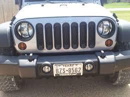 Rugged Ridge Grille Inserts Jeep Jk Rugged Ridge Wrangler Euro Fog Light Guards Black 11231 13 07