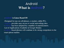 what is android os android os