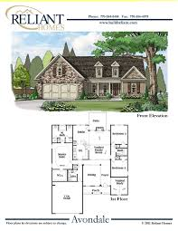 homes for sale with floor plans reliant homes the avondale plan floor plans homes homes