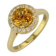 gold engagement rings uk halo citrine ring in yellow gold ring uk