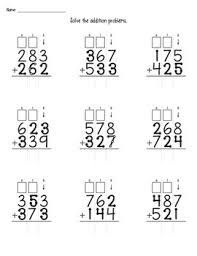 touch math 2 and 3 digit addition with regrouping worksheets by