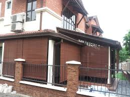 Bamboo Blinds For Porch by Exterior Traditional And Rustic Style Bamboo Shades Outdoor
