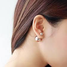back stud earrings minimal stud earrings sterling silver solid gold ear studs