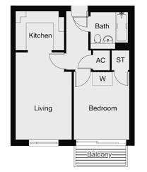 Floor Plans For Flats One Bedroom Flat Floor Plan Valine