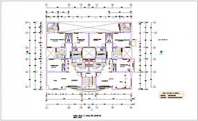 plan view to fourth floor plan view of apartment dwg file