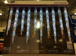 ge led icicle lights costco ge 19 count twinkling led molded icicle lights costcochaser