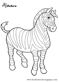 free printable zebra coloring pages kids coloring pages