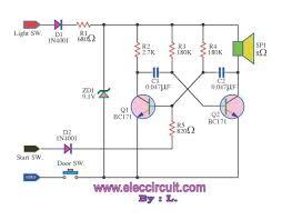 headlight warning buzzer u2013 electronic projects circuits