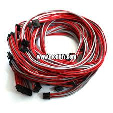 seasonic power supply custom single sleeved modular cables grey
