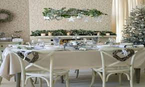 Dining Room Tables Decorations White Christmas Table Decorations