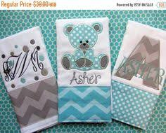 customized baby items set of 3 personalized burp cloths cloths baby boy