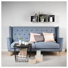 Macys Sleeper Sofa Alaina by Key West Sofa Til 2 Personer Farve Lyseblå Med Mørkeblå Knapper