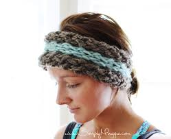 headband ear warmer diy 15 minute finger knit ear warmer simplymaggie