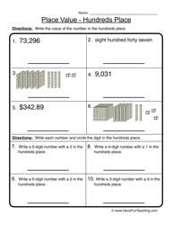 place value with decimals worksheets 5th grade hundreds place place value worksheet 3
