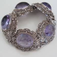 silver antique bracelet images 106 best amethyst purple vintage jewelry images jpg