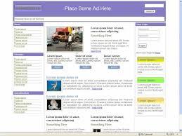 news portal website template 32 three column free css templates by