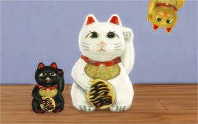 the beckoning cat this lucky cat is converted from ts2 pets comes